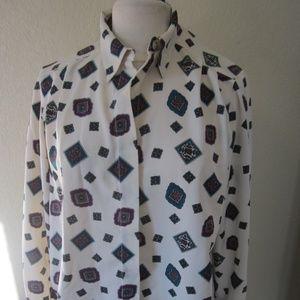 Alfred Dunner 14P Cream dress blouse